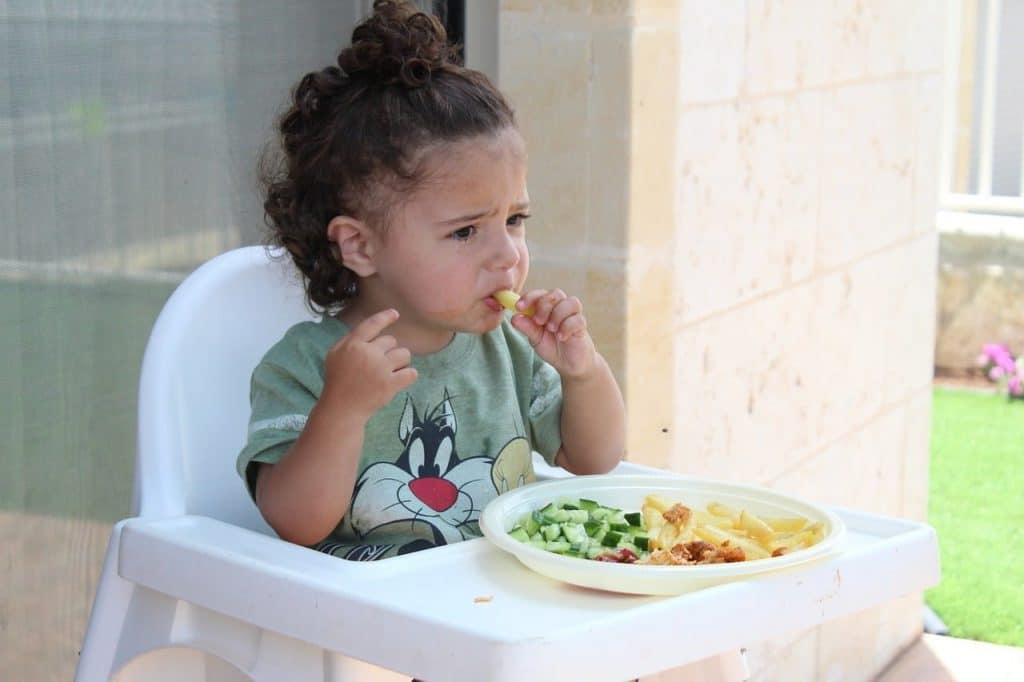 problemas de alimentación, niños, comida